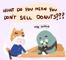 policemen only eat donuts didn't you know?!?? by mushuroom