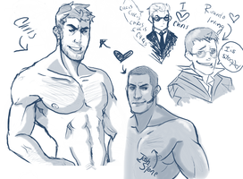 RE5 Sketch Dump by felixdacat89