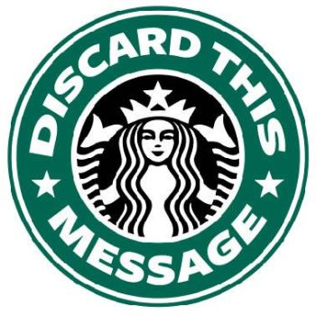 Starbucks Logo Parody by DiscardThisMessage