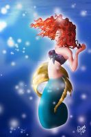 Mermaid Merida by DianeAz