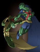 Vision VS Martian Manhunter by spade92