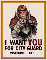 Kirkwall City Guard Wants YOU by daPatches