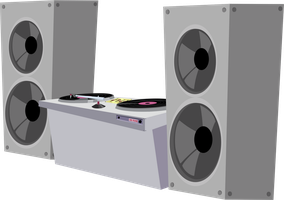 Vinyl's Mixing Table Vector by SadlyLover