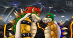 Stare Down with King Koopa by Lew-Legend