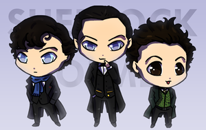 Three Sherlocks by hyacinthum