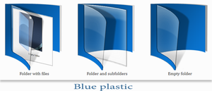 Blue plastic - live folder. by tchiro