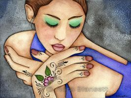 Henna On Her Hands by NoraBlansett