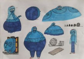 Violet Beauregarde - Model Sheet Pt.2 by LewisDaviesPictures