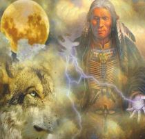 North American Indian Shaman by myjavier007