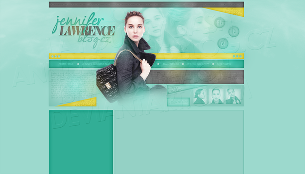 Layout: Jennifer Lawrence by iseayoubeach