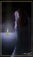 By a Candle by ImagenAshyun