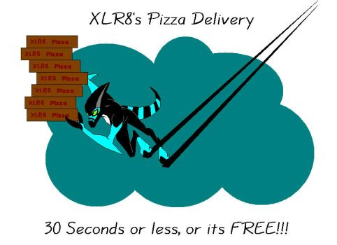 XLR8's Pizza Delivery by Pizzaface4372