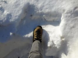 My boot in the snow by SuperSeedRacer43