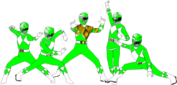 Mighty Morphin Greens for DerpMP6 by rangeranime