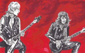 KK Downing and Glenn Tipton by cozywelton