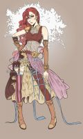 48h Steampunk girl Adoptable auction 10 [CLOSED] by ilaBarattolo