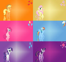 Mane 6 simple gradient pack by Snoopy20111