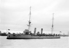 HMAS Pioneer 1900-31 at Melbourne copy by lichtie