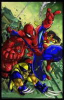 Spiderman and friends Colors by ironwill-nelson