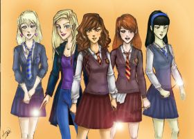 harry potter girls by paulocha00