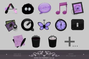 Anna Sui inspired iconset PLUS by lilithsoul