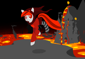 Scarlet in God Tier Mode (Homestuck MLP) by Ellroy678
