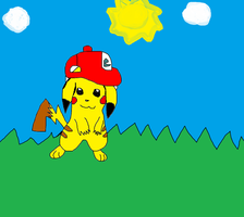 ~.:My Drawing Of Pikachu.:~ by SweetieVTheAFox101