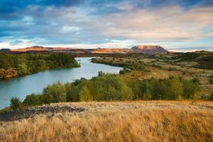 Lake Myvatn Sunset by cwaddell