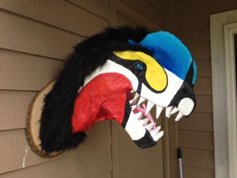 DIlophosaurus Faux Taxidermy Mount by That-Green-Monster