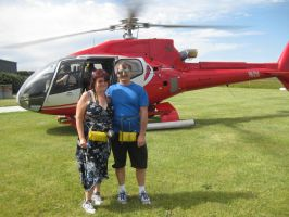 May and Myself after the Helicopter flight by GrumpySnapper