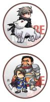 badge of ice and fire02 by Athew