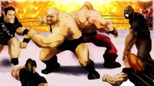 The Corre vs Big Show and Kane by ARTponic