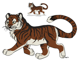 Roach tiger flat color commission by nightspiritwing