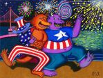 San Francisco Werewolf 4th of July Tickle by WalterRingtail