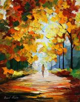 October oil painting on canvas by Leonid Afremov by Leonidafremov