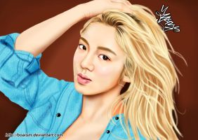 Hyoyeon Digital Painting 37 by BoAism