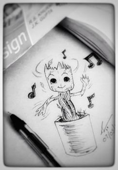 baby groot!  by Ashi07