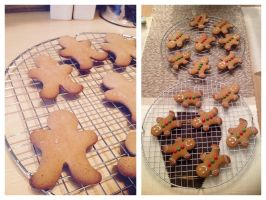 Gingerbread men cookies by Almadejonge