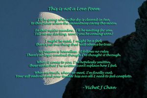 This is not a love poem by vjcsmoke