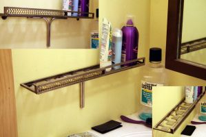Bathroom shelf by photozz
