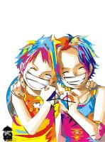Luffy and Ace Smile by ilhamwidi18