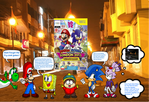 Sponge and Eric made a remake of Mario Sonic 2012 by DarkraDx