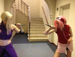 Abunai 2012: Sakura vs Ino by RumBelle