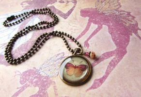 Butterfly necklace by JLHilton