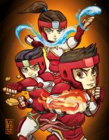 Legend of Korra - The Fire Ferrets by lordmesa
