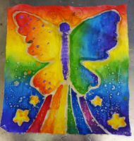 Rainbow Butterfly by Annortha