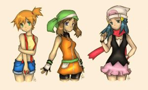 Pokemon Girls by HitachiinCrazy