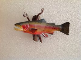 Golden Trout Carving by Fishknots