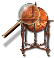 Steampunk Network Globe Icon MkII by yereverluvinuncleber