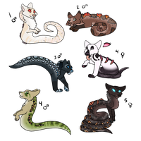 HHG    Mythical Fox-Snake Babies CLOSED by SapphireSquire